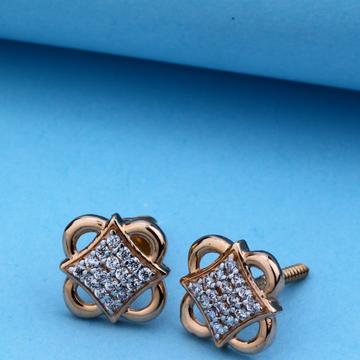 18kt CZ Rose Gold Classic Design Tops For Women
