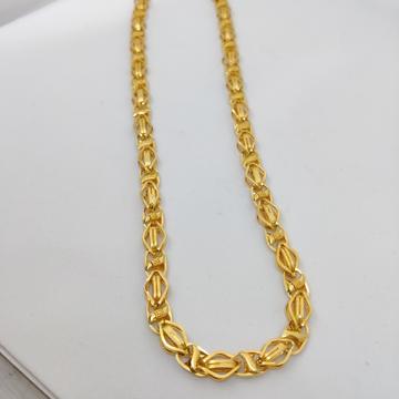 916 Gold Fancy Gent's Info Italian Chain