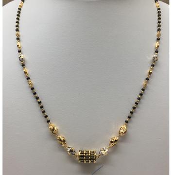 916 gold fancy antique single line mangalsutra dokiya