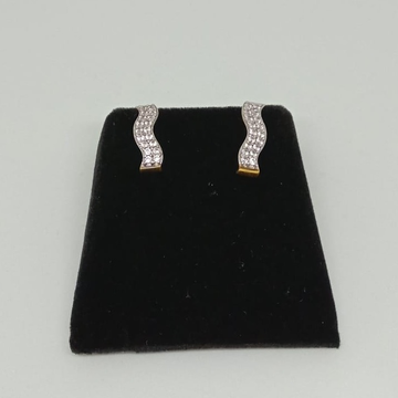 22KT Gold CZ Casual Earring MJ-E018