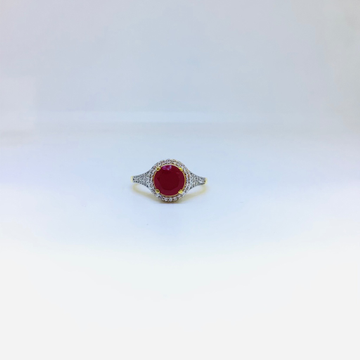 BRANDED FANCY STONE RING by