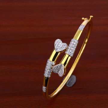 18ct Gold Cz Heart Design Bracelet LKB74
