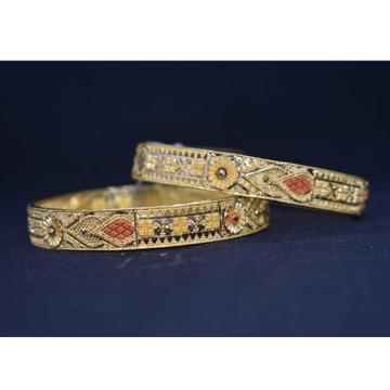 916 Gold Calcutti Design Bangles MK-B04 by