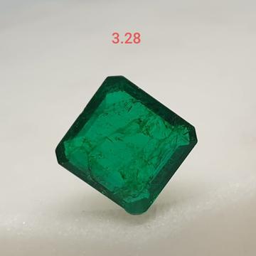 3.28ct square green emerald-panna VG-E07