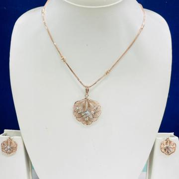 18KT Rose Gold Pendant Set by