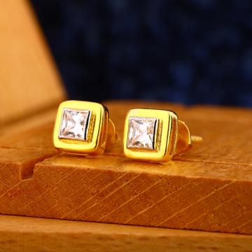 916 gold mens classic earrings me 25