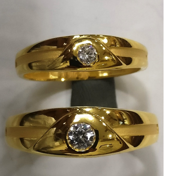 22kt gold cz casting couple set rings csr-001