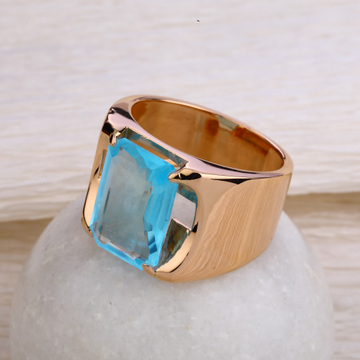 750 Rose Gold Delicate Hallmark Men's  Ring RMR58