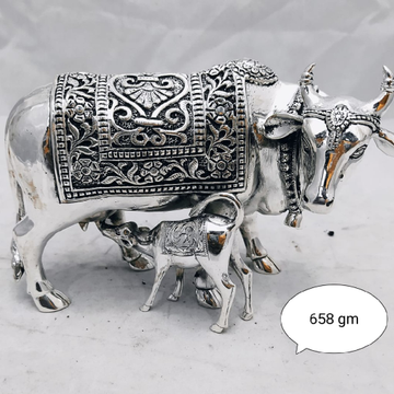Silver cow calf idol jys0027