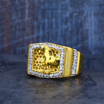 Horse Design Mens 916 Gold Ring-MR06