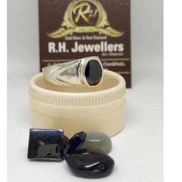 Silver real stone ring rh-sr603