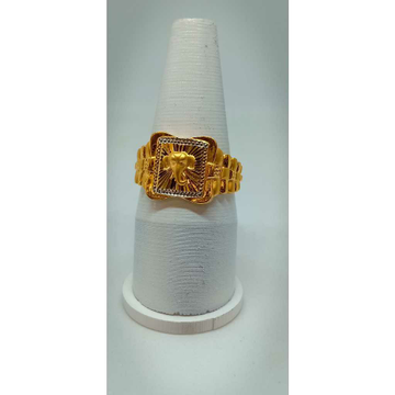 916 Gold Casual Wear Gents Ganesh Ring