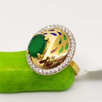 916 Gold CZ classic Ladies Ring RH-LR55