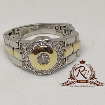 92.5 silver daimond gents rings Rh-Gr953