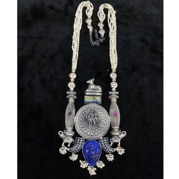 Designer long chained haara on Shiv Parivar with L... by Puran Ornaments