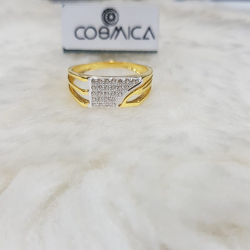 22K Gold CZ Designer Ring GC-R04