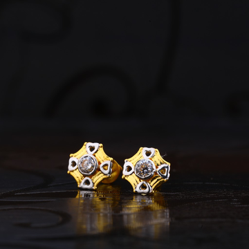 916 Gold Earring With Solitare LSE120