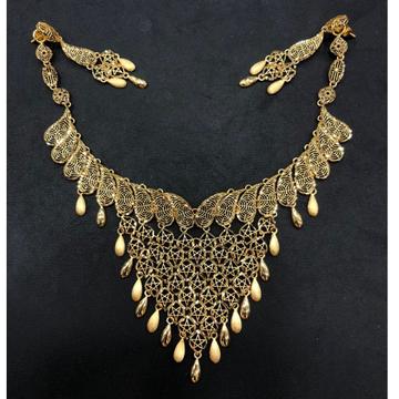 916 Gold Modern Necklace Set by