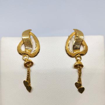 18KT gold heart shape latkan earring dj-e016