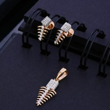 18 carat rose gold traditional ladies pendants set RH-PS459