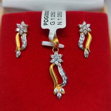 22kt fancy pendant set by Parshwa Jewellers