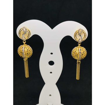 916 Ladies Long Fancy Gold Earring Er-60056