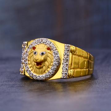 916 Gold Cz Designer Men's  Ring MR665