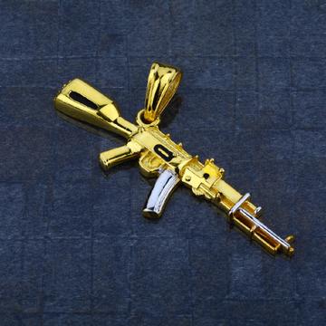 Men's Exclusive 916 Gun Gold Pendant- MHP04