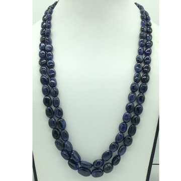 Natural Blue Sapphires Oval Aweja2Layers Necklac...
