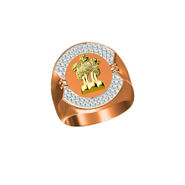 18Kt Men's Rose Gold Fancy Ring-31305