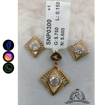 22 carat gold classical ladies earrings set RH-ER682