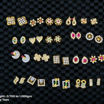 18 kt earrings kids topas buti light weight