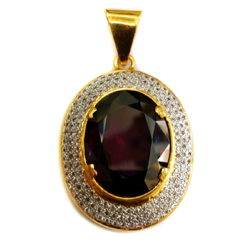 22k Gold Ovel Black Diamond Pendant MGA-GP005
