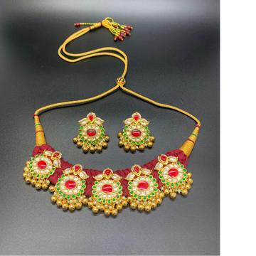 Kundan jadau necklace by