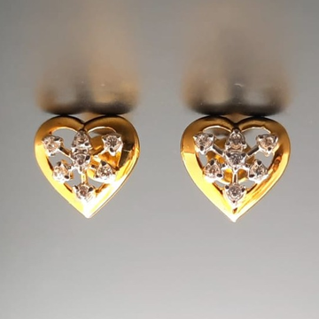18 ct. gold tops heart shape