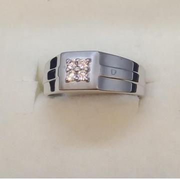 Silver elegant design hallmark ring for men's by