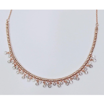 Rose Gold Plated Modern Necklace For Women MJ-N003 by