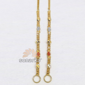 Light Weight Gold Earchain Kanser SK - K031