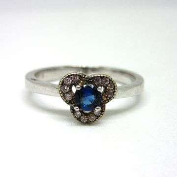 Silver 925 royal blue stone ring sr925-105 by