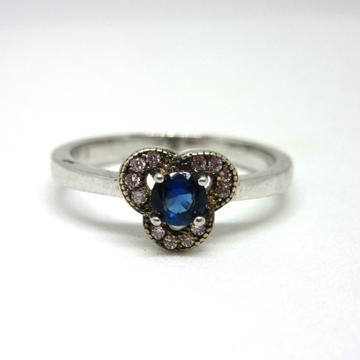 Silver 925 royal blue stone ring sr925-105