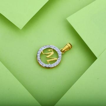 Gold M Letter Pendant-LP13