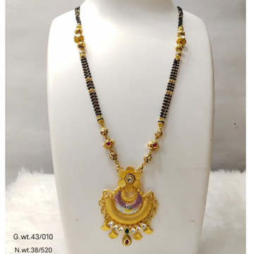 22 carat gold traditional ladies mangalsutra RH-MN833