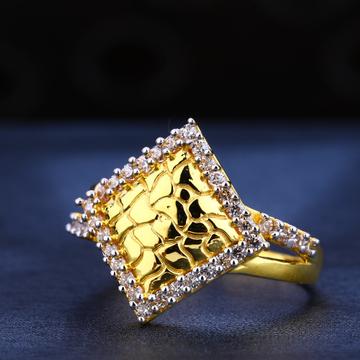 916 Gold Cz Classic Ladies Ring LR575