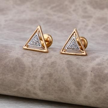 18 carat rose gold stylish earrings RH-LE603