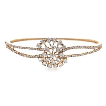 18kt / 750 rose gold floral diamond bracelet 9brc3