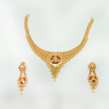 22KT Gold Traditional Necklace Set ML-N005