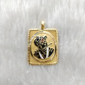 916 Gold Krishna Pendant