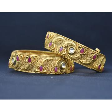 916 Gold Antique Bangle Kada MK-B02 by
