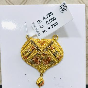 22 carat gold traditional ladies mangalsutra RH-MN766