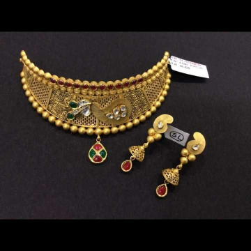 22 K Gold Choker Set. NJ-N01137